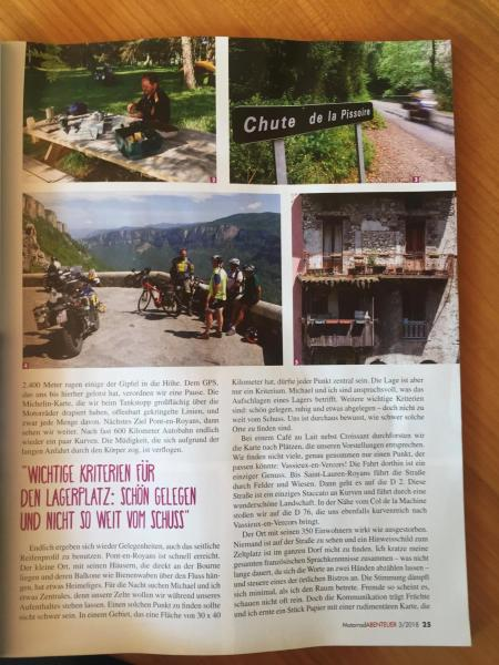 Article journal allemand motards